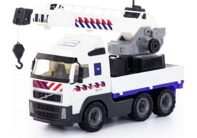 Автомобиль-кран Полесье с поворотной платформой Volvo 77318