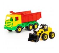 Автомобиль самосвал+трактор 44914