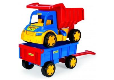 Грузовик Гигант + игрушка тележка Wader 65100