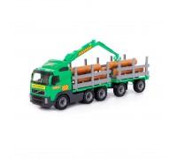 Лесовоз Volvo с прицепом Полесье в лотке 77 см 58348