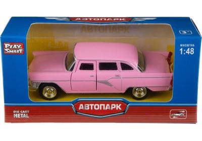 Модель транспорта Волга розовая 6410B