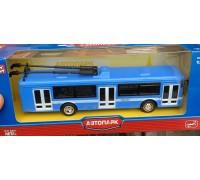 Модель транспорта троллейбус синий 6407B