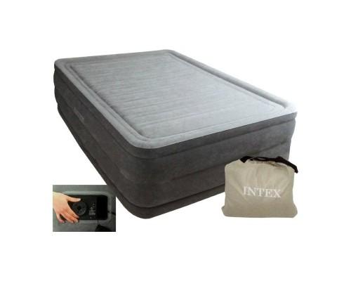 Кровать Intex 64418 с встроенным электронасосом 203*152*56 см