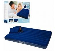 Матрас двуспальный с подушками Intex 68765 203x152x22 см