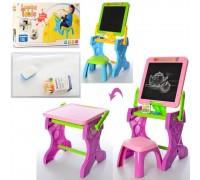 Мольберт столик со стульчиком 2 в 1 Learning Table YM883-884 2 цвета