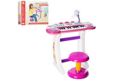Пианино синтезатор со стульчиком BB33 2 цвета