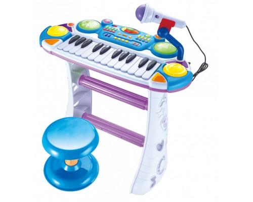 Пианино синтезатор 7235 голубой