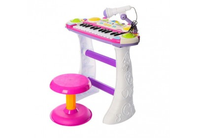 Пианино синтезатор 7235 розовый