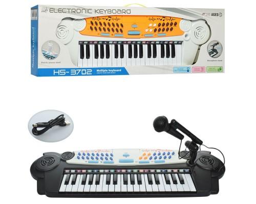 Детский пианино синтезатор с микрофоном HS3702AB