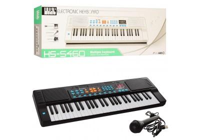 Детский пианино синтезатор с микрофоном HS5460A