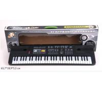 Детский синтезатор с микрофоном от сети MQ 6107