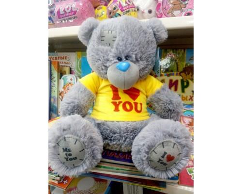 Мишка Тедди в кофте мягкая игрушка 55 см