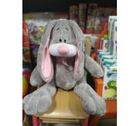 Заяц серый мягкая игрушка 43 см