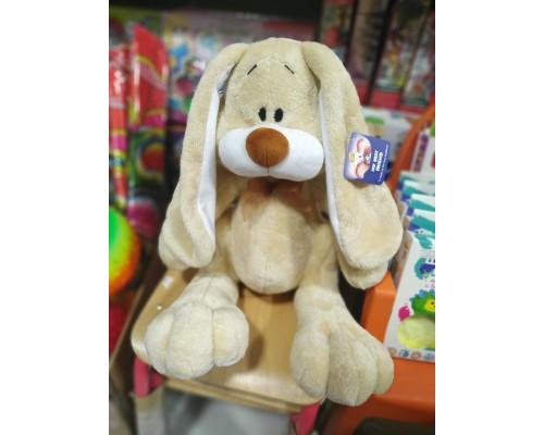Заяц бежевый мягкая игрушка 43 см