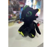 Мягкая игрушка Дракон Беззубик черный
