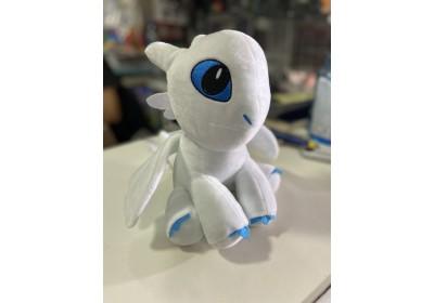 Мягкая игрушка Дракон Беззубик белый
