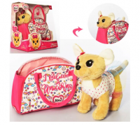 Мягкая игрушка собака Кики в сумке 4364