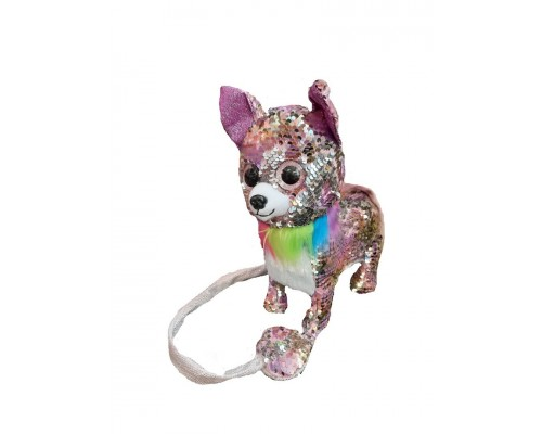 Собака на поводке в пайетках 0220 4 вида