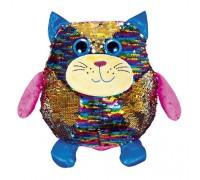Мягкая игрушка Fancy кот Пэрис с пайетками 28 см KOG01