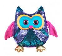 Мягкая игрушка Fancy сова Вивьен с пайетками 28 см SOG01