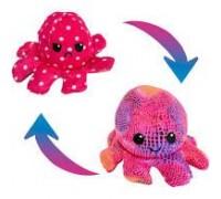 Мягкая игрушка перевёртыш Осьминожка розовый7930-P