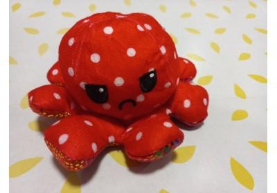 Мягкая игрушка перевёртыш Осьминожка красный7930-R