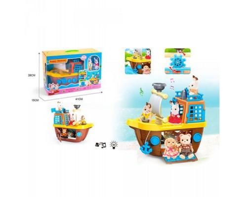 Набор игровой Happy Family Корабль с животными MBE18-2