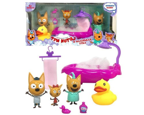 Игровой набор Три кота YM015 с ванной
