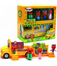 Игровой набор Три кота автобус M-8805