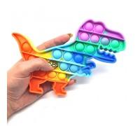 Сенсорная игрушка Pop It ПОП ИТ антистресс динозавр