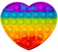 Сенсорная игрушка Pop It ПОП ИТ антистресс сердце