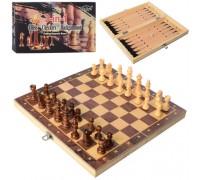 Шахматы шашки нарды 3 в 1 набор 7702