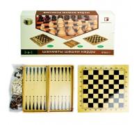 Шахматы шашки нарды 3 в 1 B3517