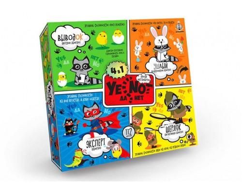 Карточная игра YENOT 4в1 ДаНетки Danko Toys YEN 02-01