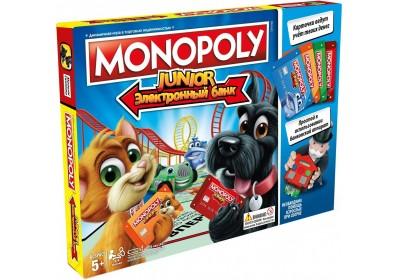 Настольная игра Hasbro Моя первая Монополия с банковскими картами E1842
