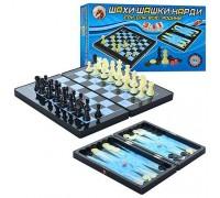 Шахматы, шашки,нарды 3 в 1 набор MC1178