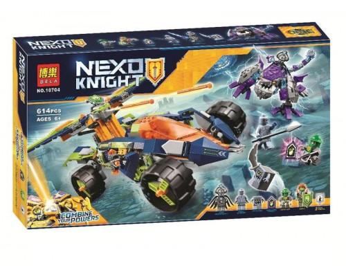 Конструктор Bela 10704 Nexo Knight Вездеход Аарона 4x4