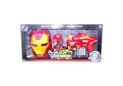 Бластер SB392 с маской и фигуркой супергероя