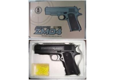 Пистолет металлический на пульках ZM04