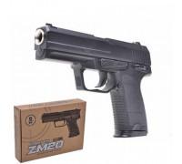 Пистолет металлический на пульках ZM20