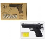 Пистолет металлический на пульках ZM22