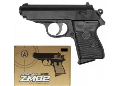 Пистолет металлический на пульках ZM02
