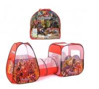Палатка детская игровая с тоннелем Мстители 8015АS