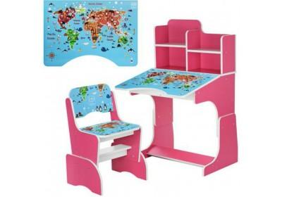 Парта детская География В2071-45-5
