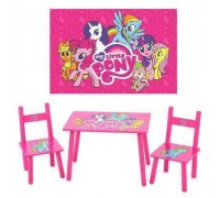 Комплект детский стол 2 стула My little pony