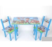 Комплект детский стол 2 стула Paw partol Щенячий патруль