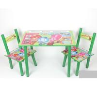 Комплект детский стол 2 стула Фиксики