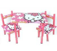 Комплект детский стол 2 стула Hello kitty