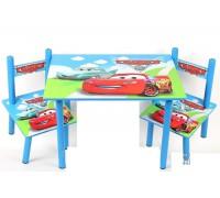 Комплект детский стол 2 стула Тачки