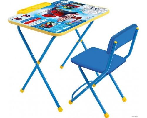 Комплект столик со стульчиком Ника Человек паук Д2Ч